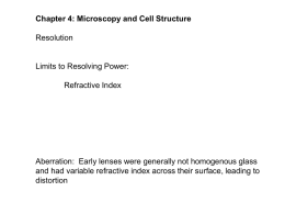 Chapter 4: Microscopy and Cell Structure