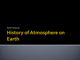 History of Atmosphere on Earth