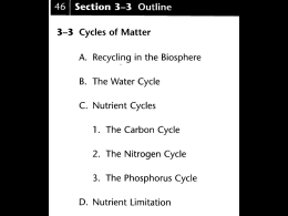 ecology - nutrient cycles