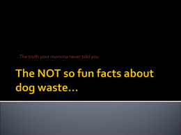 The NOT so fun facts about dog waste…