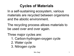 Cycles of Materials