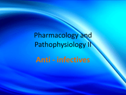 Pharmacology and Pathophysiology II
