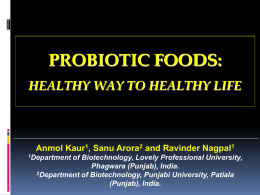 PROBIOTIC FOOD – Way TO HEALTHY HOPE