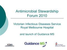 Antimicrobial stewardship where`s the evidence?