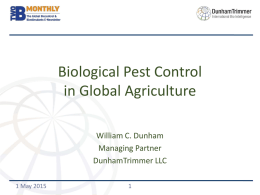 DunhamTrimmer Biological Control Market — Jefferies May 10 2015