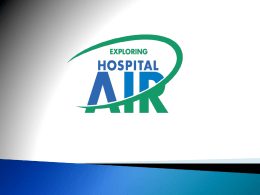 The Role of Contaminated Air in Healthcare Acquired Infections