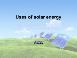 Power Point presentation on uses of solar energy