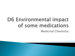 D6 Environmental impact of some medications