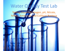 Water Quality Testing Lab