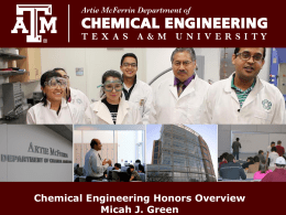 Presentation Slides - Chemical Engineering