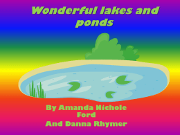 Wonderful lakes and pondsx