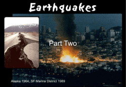 3A8 Week 06 Lecture 17-Earthquakes Part Two (Prediction)