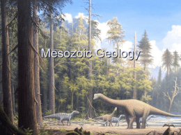 Chapter 23 The Geology of the Mesozoic Era