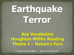 Earthquake Terror - Honey Hollow Elementary School