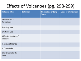 Effects of Volcanoes (pg. 298-299)