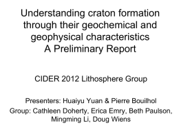 Reconciling geophysical and geochemical data to
