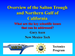 Overview of the Salton Trough and Northern Gulf