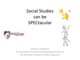 Social Studies can be SPEC-tacular - Preserving Our Nation Liberty
