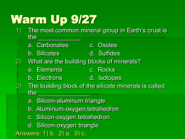 Ch 2 3 Properties of Minerals