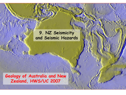 NZ Seismicity - Union College