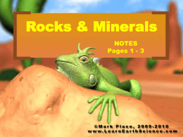 Mineral Notes - Learn Earth Science