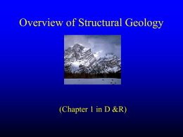 Nature of Structural Geology