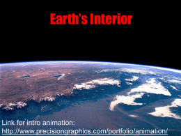 Earth`s Interior Notes