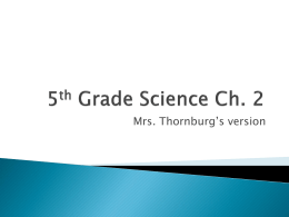 5th Grade Science Ch. 2
