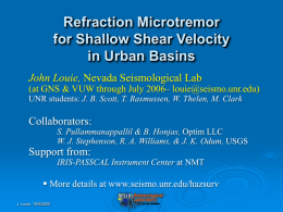 Powerpoint file - The Nevada Seismological Laboratory