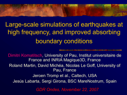 Simulation of Seismic Wave Propagation in 3-D models