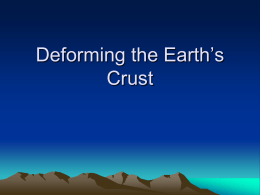 Deforming the Earth`s Crust