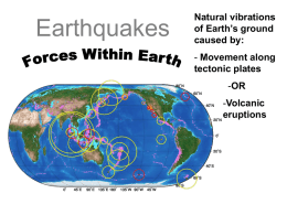 19.1 Forces within the Earth