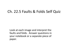 Faults and Fold Interpretation