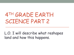 4th grade Earth Science Part 2