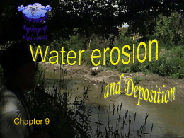 Chapter 9 Water erosion and depositionNTW