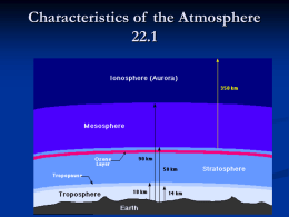 Characteristics of the atmosphere lec 22.1b