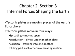 Chapter 2, Section 3 Internal Forces Shaping the Earth