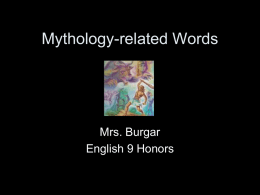 Mythology-related Words