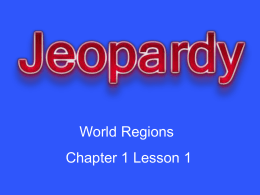 Chapter 1 Lesson 1 Jeopardy Review