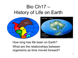 Bio History of Life on Earth