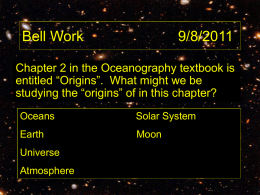 "Oceanography Chapter 1 – ""Origins"""