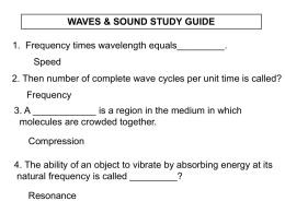 waves & sound study guide