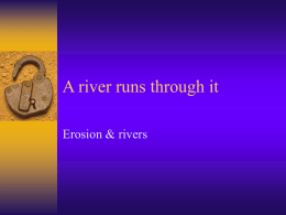 Chapter 13.2 - Stream loads and river formation