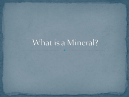 Minerals - Cobb Learning