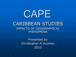 CAPE - SIGNAL HILL SECONDARY CARIBBEAN STUDIES