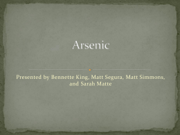 Arsenic - UNM Biology