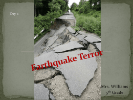 Earthquake Terror 2010 - Vocabulary and Skillsx