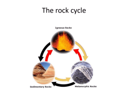 The rock cycle A3.1x