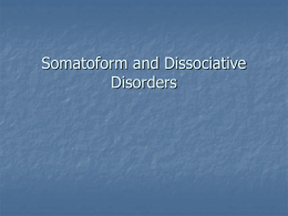 Dissociative Disorders - Weber State University