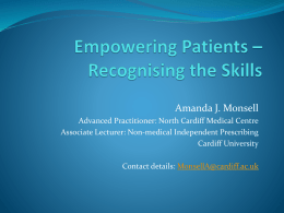 Empowering Patients * Recognising the skills